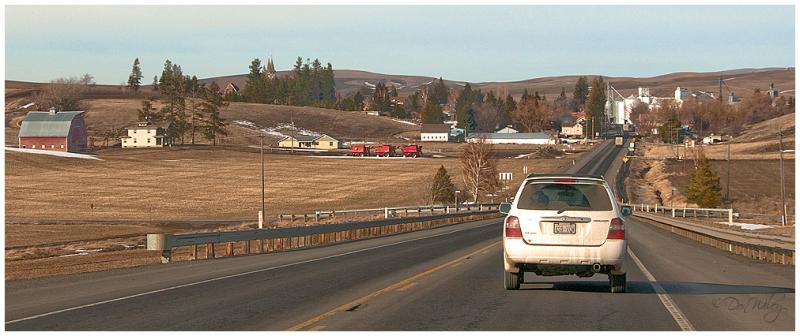 A small town on the road to Clarkston, Washington.