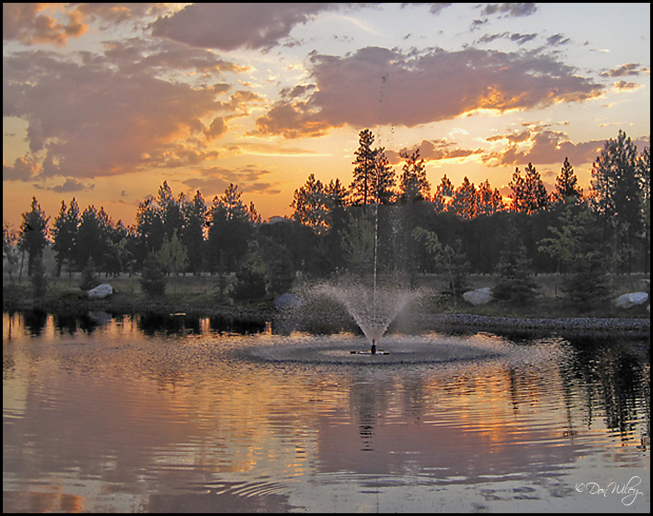 Fountain Sunrise