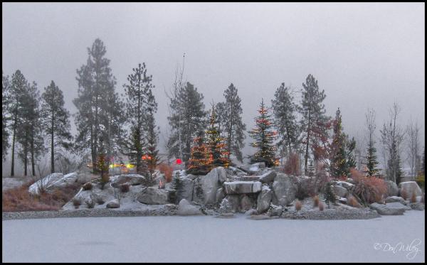 Frozen Christmas Morning