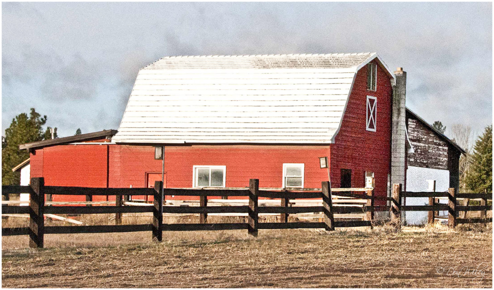 Barn with Lean-to