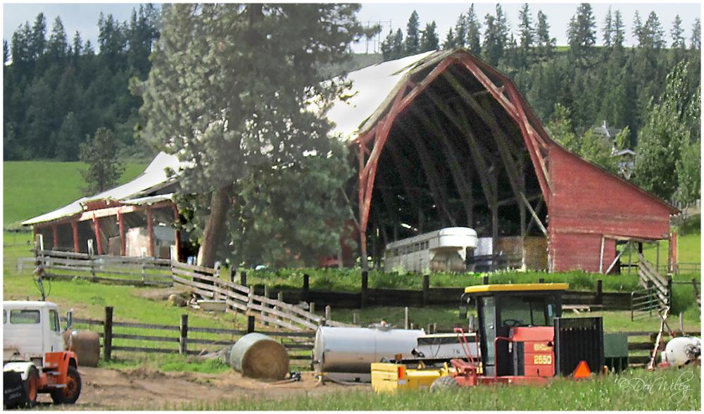 Mansard Roof Barn