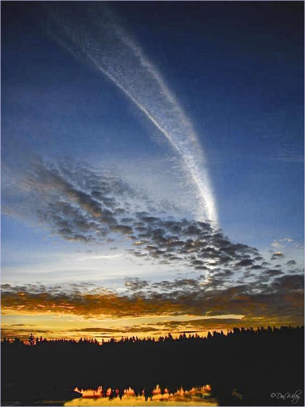 Sunrise Jet Trail