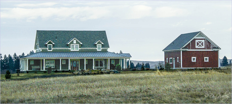 A Large Farm Home