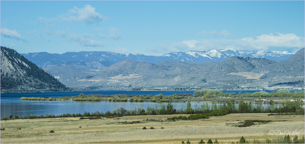 Confluence of the Okanogan and Columbia Rivers.