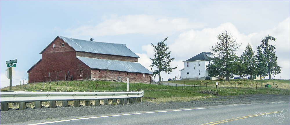 A large farm home