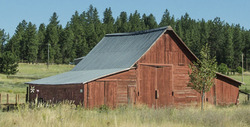 A closed barn