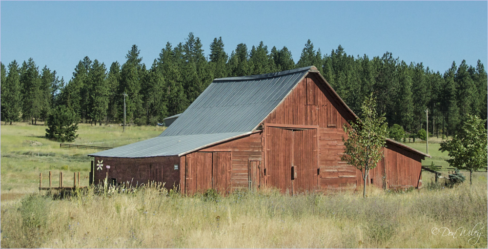 A closed barn