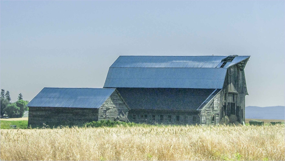 Barn with broken roof