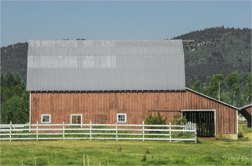 Barn and garage
