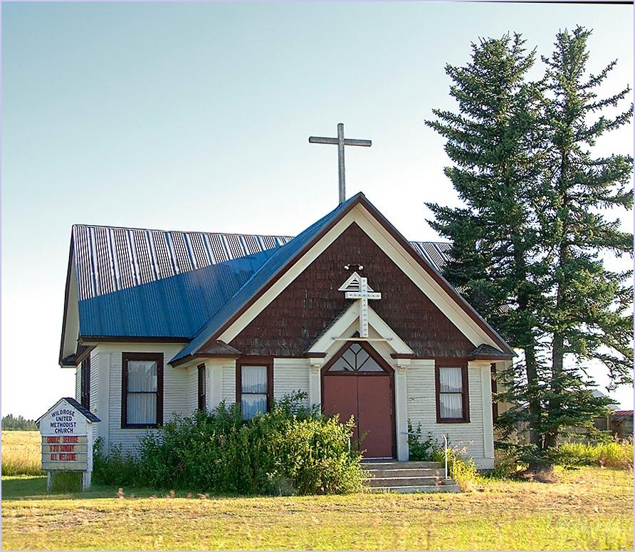 An Earlier Wild Rose Church