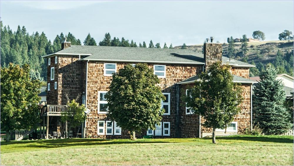 A three level farm home