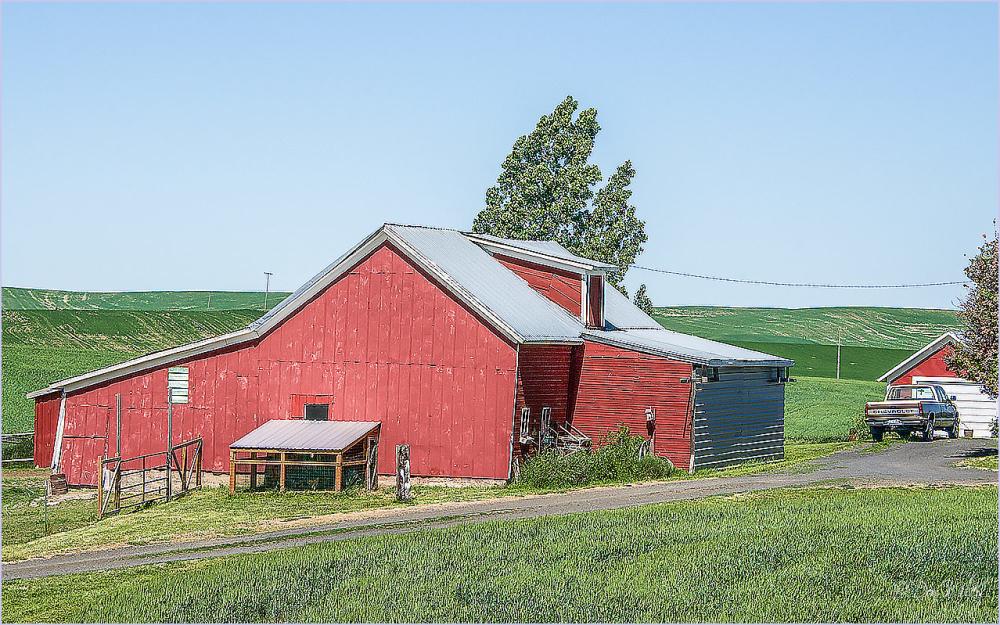 Pickup and Barn
