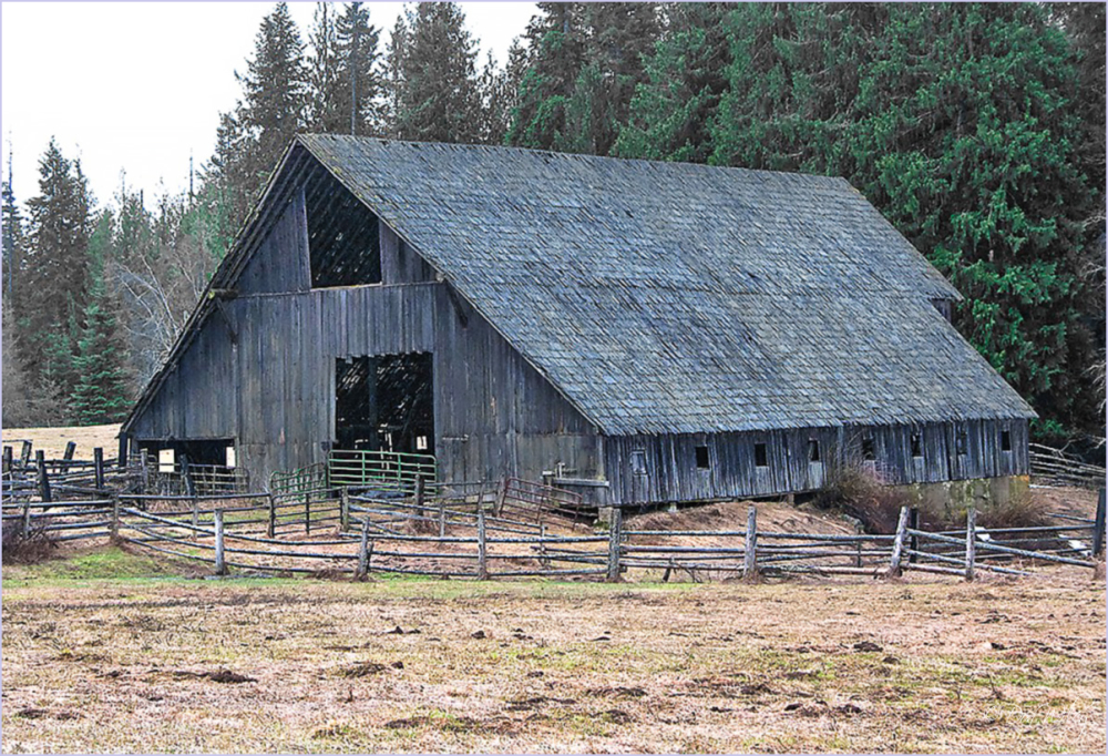 Fenced Barn