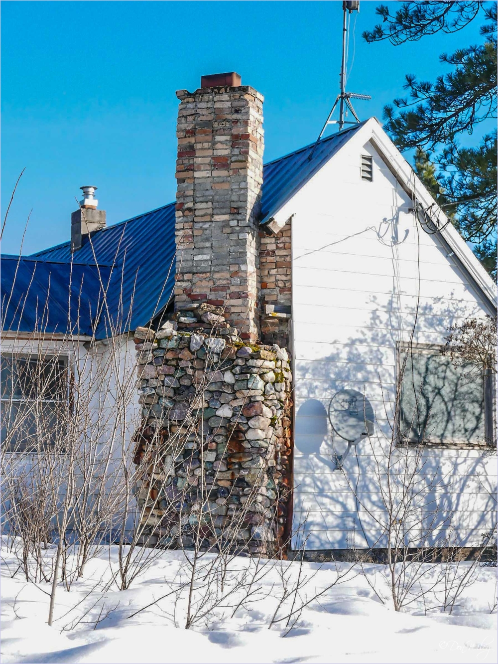 Stone and Brick Chimney