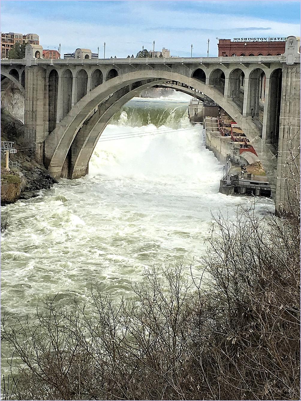 Surging Spokane River