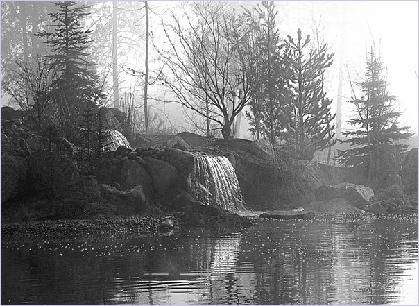 Two Falls On A Business Pond
