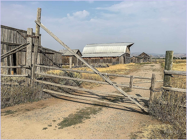 Rail Gate and Barn