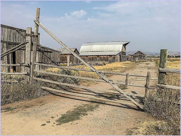 Rail Gate and Barn