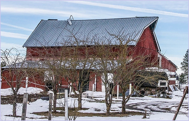 A Barn With A Screen