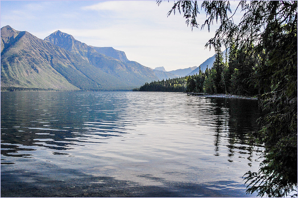 McDonald  Lake in  Glacier National Park