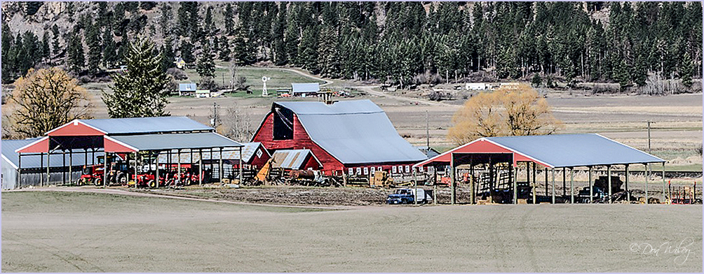 Equipment Sheds and Barn.
