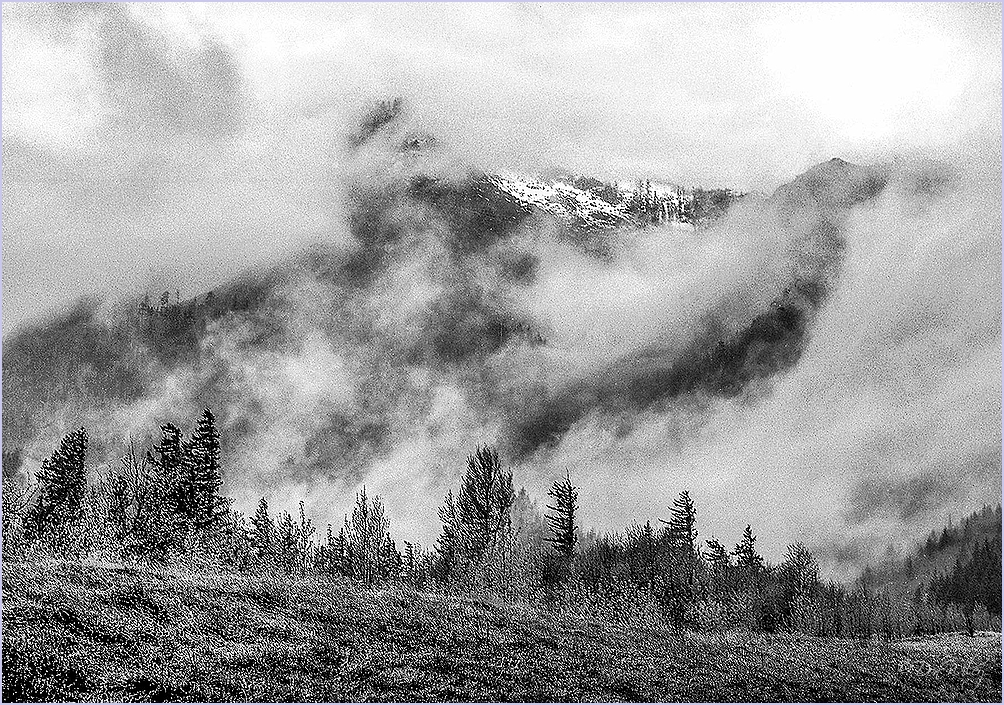 Mountain Thru Clouds