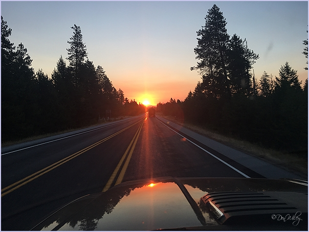 Sunrise When Driving