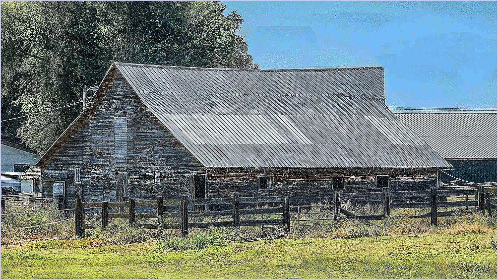 Metal Roofed Barn