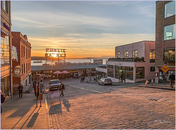 Public Market At Sunset