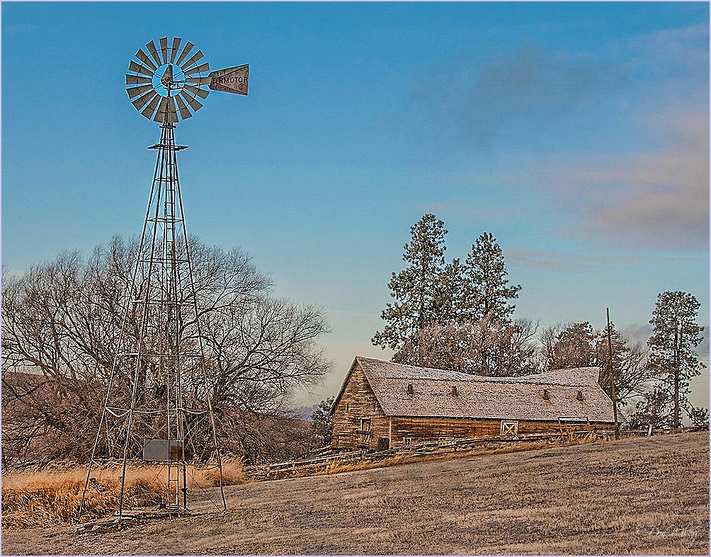 Windmill and Barn