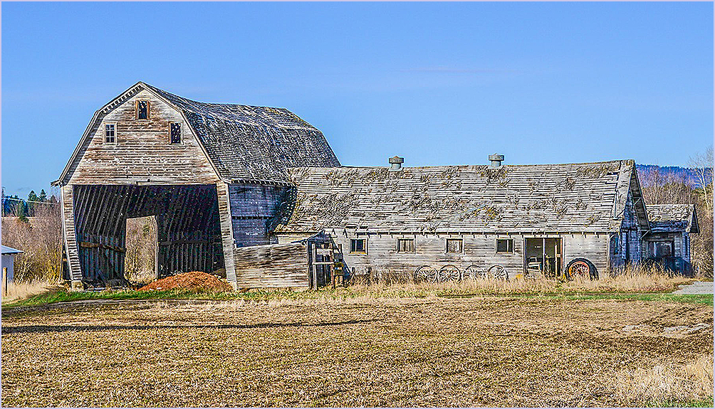 Decaying  Barn and Shed