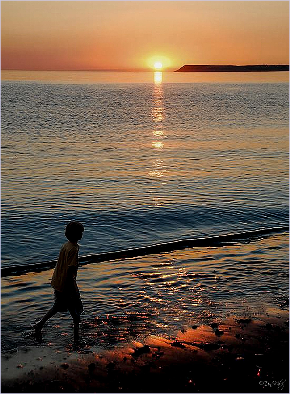 Boy and Sunset