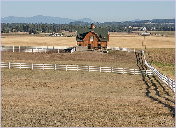 Horse Barn and House