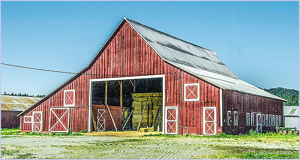 Barn With Hay