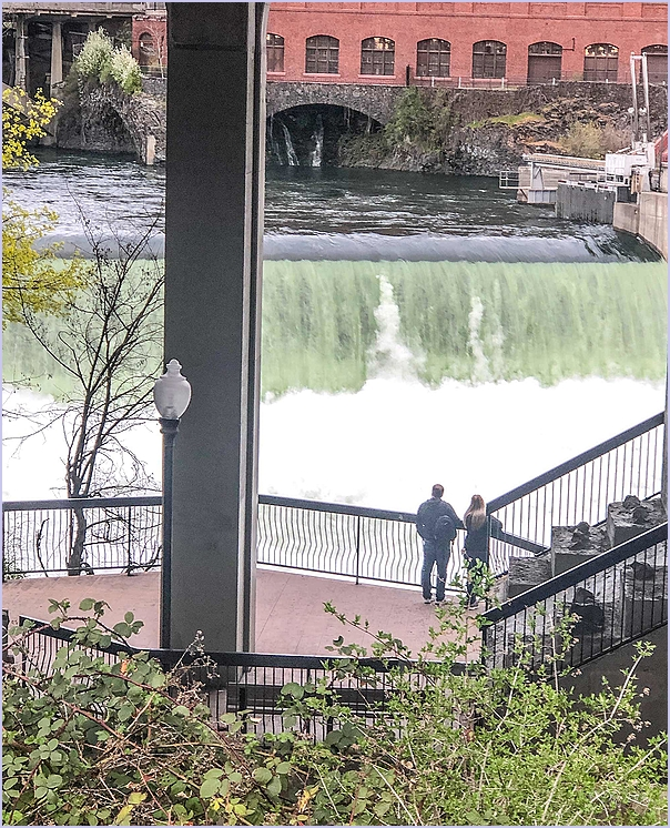Watching The Falls In Spokane