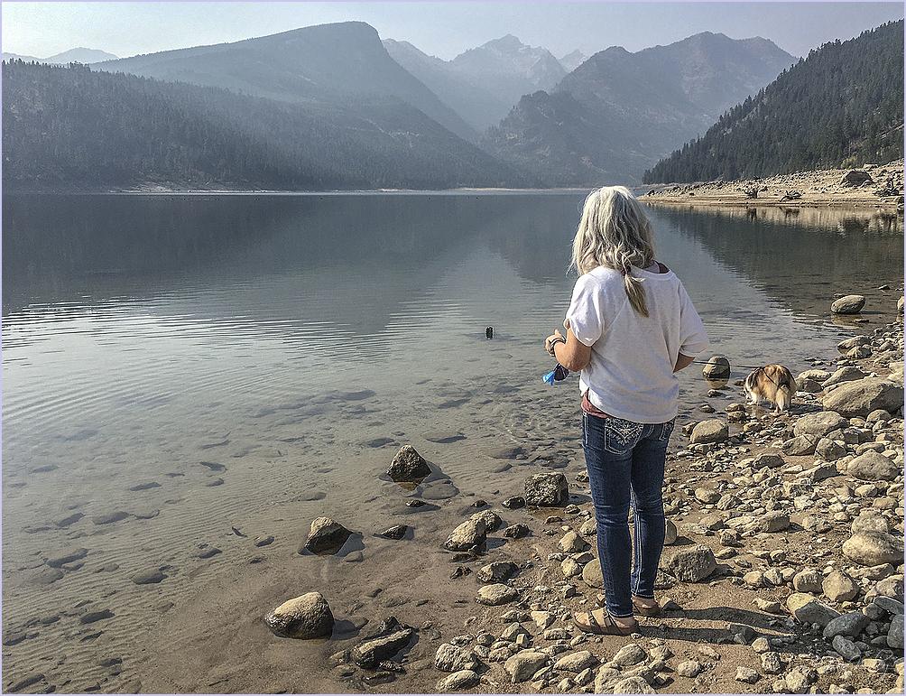 Debi Viewing Lake Como