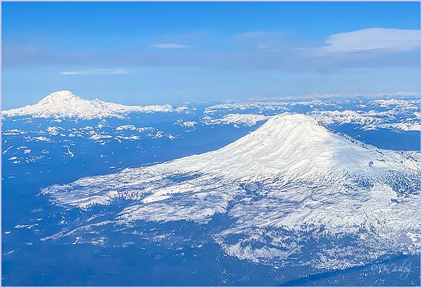 Mt Adams and mt Rainer Behind