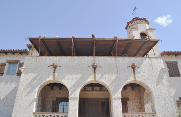 The Main Entrance to Scotty's Castle, Death Valley