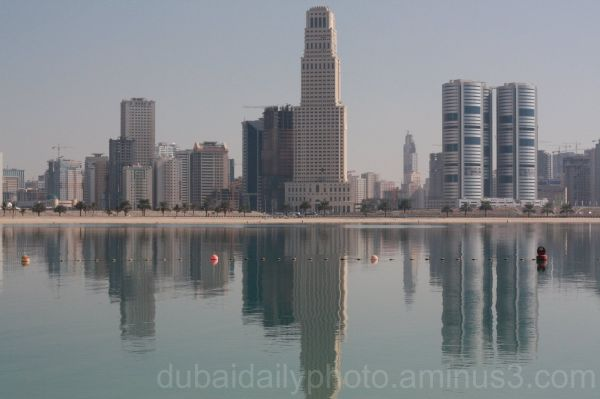 Reflection of Sharjah's Construction Rush