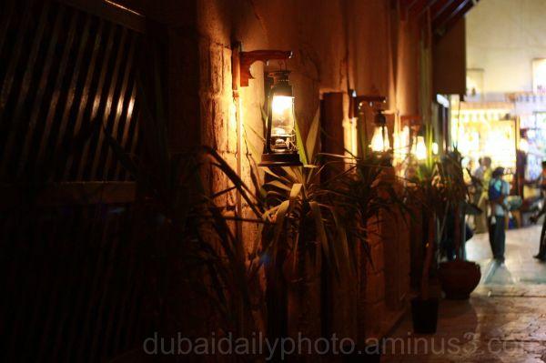 Dim street in Textile Souk