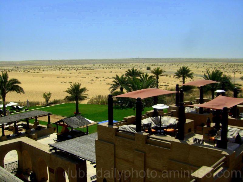 View from the desert resort