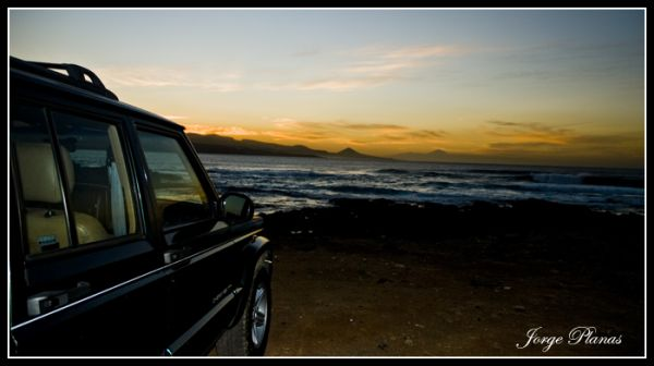 Jeep in Sunset