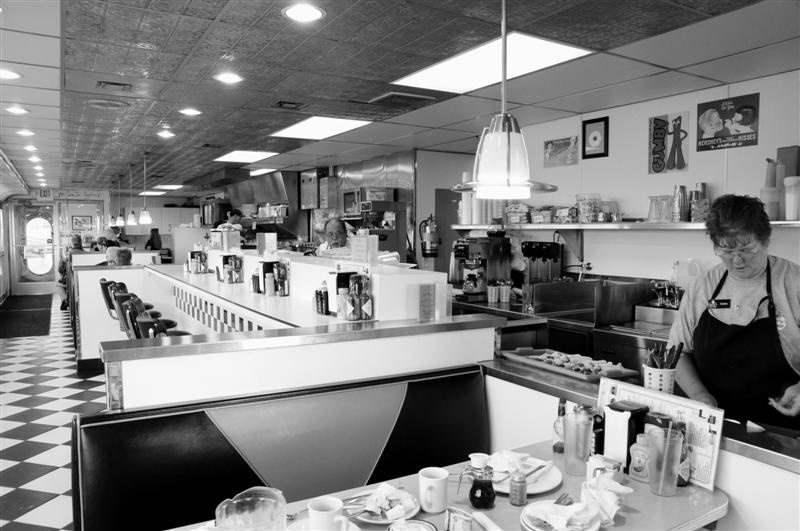 shot of the inside of a diner