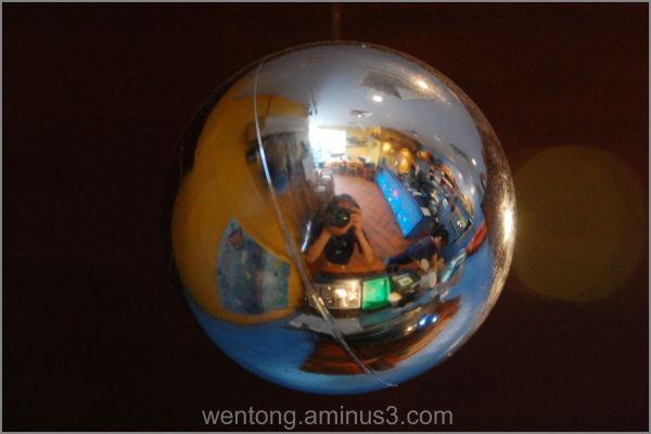Reflection on a Christmas ball