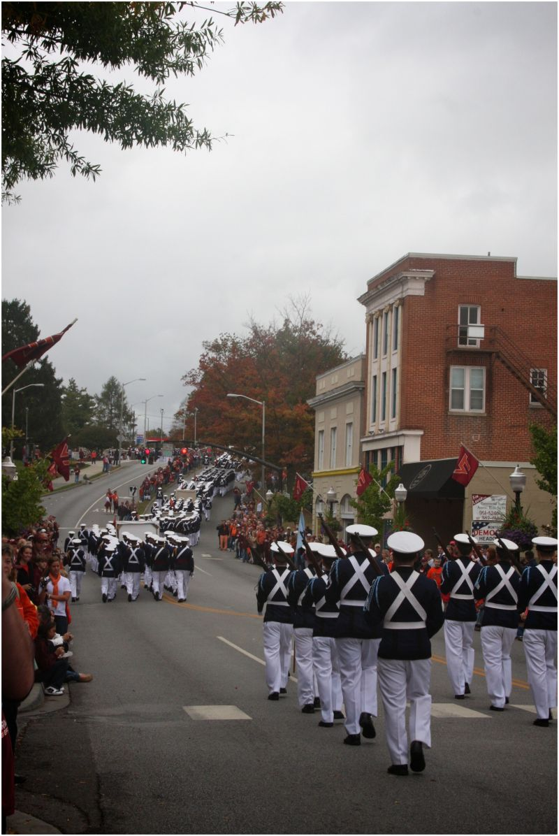 VT Homecoming Parade-Forever Corps of Cadets