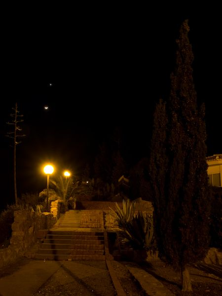 The Moon and Mars shine together
