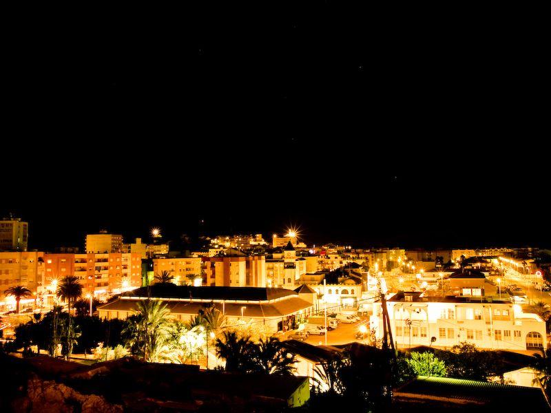 Night view of Puerto Mazarrón