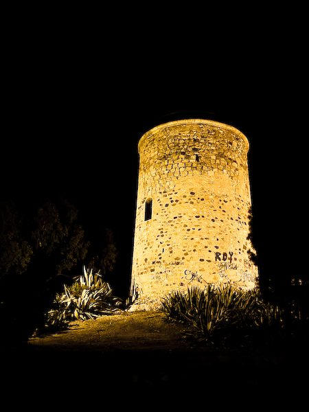 Night view of the tower of St. Elizabeth