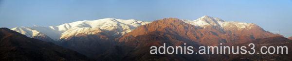 Tochal Peak- the landscape of north of Tehran city