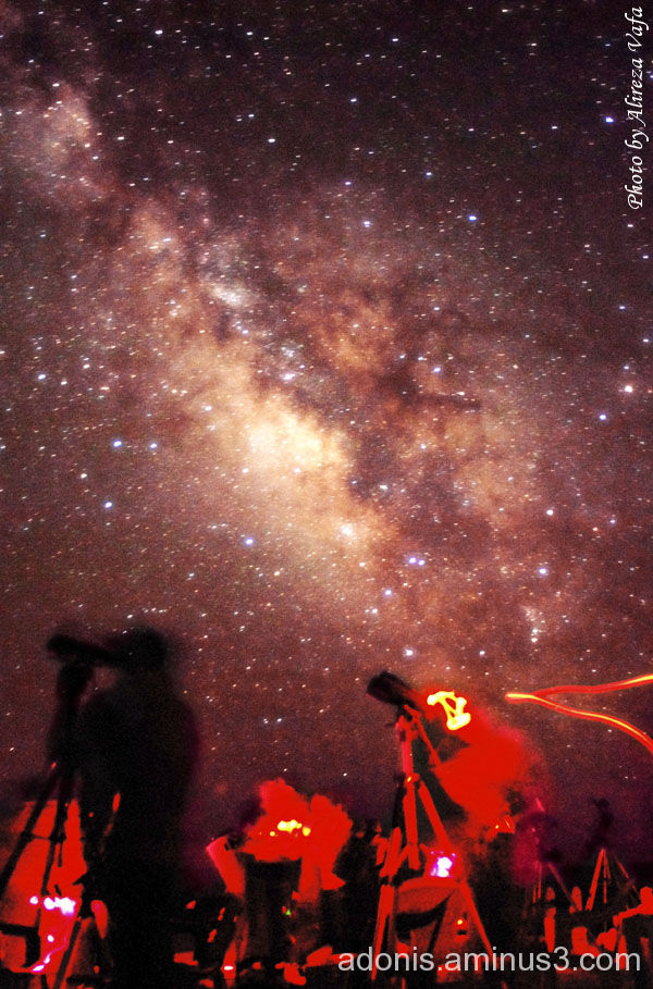 Milky way rises over 9th Iranian Messier Marathon